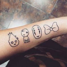 Pin for Later: Totoro, Soot Sprites, and Forest Spirits: 40 Enchanting Studio Ghibli Tattoo Ideas Calcifer, Kodama, No Face, and Kiki