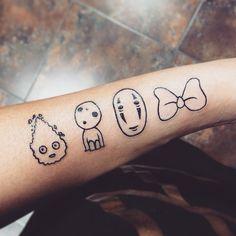 Pin for Later: Totoro, Soot Sprites, and Forest Spirits: 40 Enchanting Studio Ghibli Tattoo Ideas Calcifer, Kodama, No Face, and Kiki