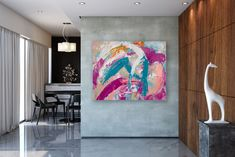 Large Modern Wall Art Painting,Large Abstract Painting,acrylics paintings,bedroom wall art,large horizontal art FY0093