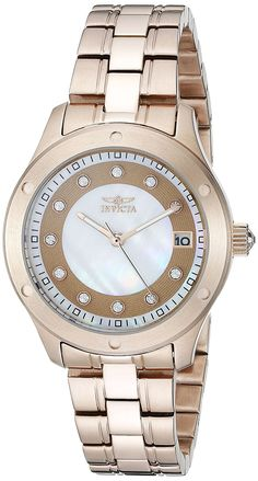 Invicta Women's 21406 Wildflower Analog Display Japanese Quartz Rose Gold Watch -- Be sure to check out this awesome watch.