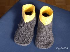 Keep+your+tootsies+cozy+all+winter+long+with+a+pair+these+intrepid+boot+slippers+from+a+crochet+pattern+by+Patricia+of+Pops+de+Milk.