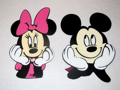 mickie mouse handmade greeting cards | Mickey & Minnie Mouse, Die Cut, Disney Embellishment , Scrapbooking