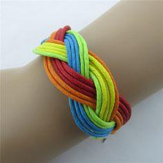 Beautiful Colorful Hand-Woven Bracelet