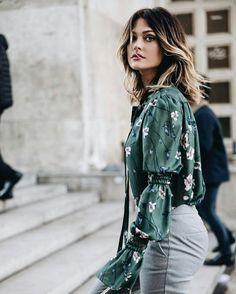 Caroline Receveur spring outfit with floral prints. #spring #springtime #french #carolinereceveur #florals #floralprints #lookoftheday #fabfashionfix