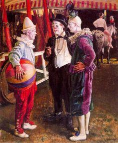 Laura Knight - Three Clowns