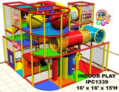 Indoor soft modular playground design with a small toddler area on ground level. At International Play Company we design, manufacture, ship and install indoor playground equipment and interactive play solutions. Iplayco installs worldwide. Make your business family friendly by adding a fun play area for the children. Our professional & knowledgeable team will work hand in hand with your team to develop a proposal that meets the needs and budge of each project.