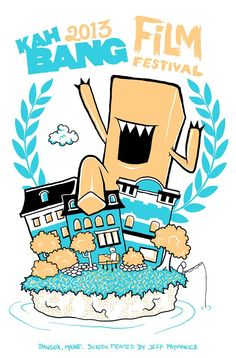 3 color Kahbang Film Festival Poster.