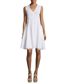 Kalsington+Crunch+Wash+A-Line+Dress+by+Theory+at+Neiman+Marcus.