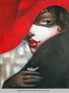 Ira Tsantekidou / LEGERETE DE L'ETRE / oil on canvas, 90x70cm, 2008.