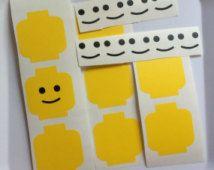 DIY Lego Head Vinyl Decal Stickers