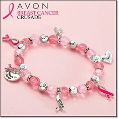 A portion of each dollar sold goes towards the fight to end breast cancer with Avon's Breast Cancer Crusade.