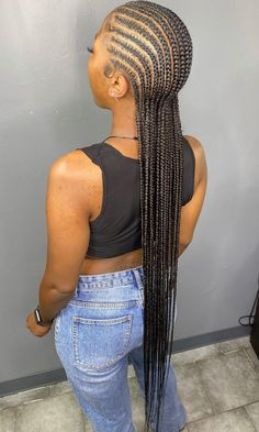 Box Braids Hairstyles For Black Women, Feed In Braids Hairstyles, Braids Hairstyles Pictures, Baddie Hairstyles, Braids For Black Hair, My Hairstyle, Hair Pictures, Black Cornrow Hairstyles, Fall Hairstyles