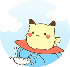 pikachu surfing by MinjiXMuu-chan on DeviantArt http://minjixmuu-chan.deviantart.com/art/pikachu-surfing-257815717