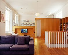 Weekend homes: The living space, including amezzanine kitchen and a dividing wall
