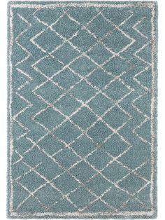 """Mint Rugs Laagpolig tapijt """"Loft"""" blauw/crème"""