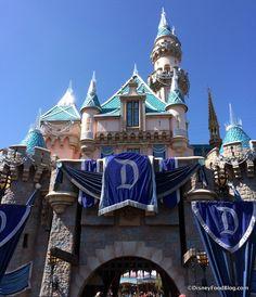 "Sleeping Beauty Castle decked out for the ""Diamond"" celebration tami@goseemickey.com"