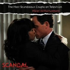 Reason #1 to recruit your friends: We have one of the steamiest relationships on television! #ScandalRecruitment #Scandal