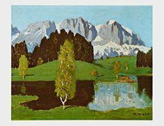 Art Print: Schwarzsee near Kitzbuehel Art Print by Alfons Walde by Alfons Walde : Mountain Art, Mountain Landscape, Poster Prints, Art Prints, Posters, Find Art, Framed Artwork, Custom Framing, Online Printing