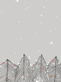 A stunning collection of 50 designer Christmas cards for your inspiration – Xma… – Christmas DIY Holiday Cards Noel Christmas, Christmas Design, Vintage Christmas, Christmas Crafts, Christmas Decorations, Christmas Poster, Winter Christmas, Illustration Noel, Winter Illustration