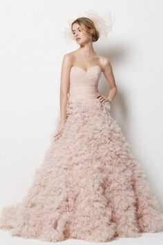 Beautiful Blush, such a flattering color. I am in LoVe with this dress!