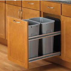 16 best trash and recycle drawers images kitchens waste container rh pinterest com