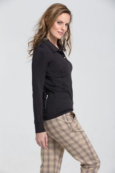 Plaid is back!  Cool wicking ankle pant, camel, berry and black combinations.   Available also in a skort. B-Rapt Apparel