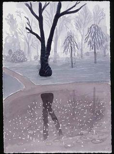 David Hockney watercolor 2004