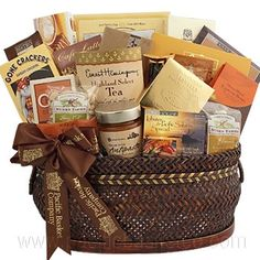 gourmet gift basket, baskets for an office, canada, vancouver Gourmet Gift Baskets, Office Parties, Food Gifts, Fresh Fruit, Crackers, Gourmet Recipes, Party, Pretzels, Parties