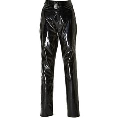 Zeynep Arcay High Waist Patent Leather Pants (6.660.935 COP) ❤ liked on Polyvore featuring pants, bottoms, trousers, zeynep arcay, black, high-waisted pants, highwaist pants, slim pants, high waisted trousers and slim trousers