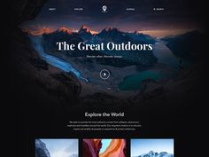 The Great Outdoors designed by Piotr Adam Kwiatkowski. Connect with them on Dribbble; the global community for designers and creative professionals. Screen Cards, Create Website, Web Design Inspiration, Design Ideas, Interface Design, Page Design, Ux Design, Graphic Design, Picture Design