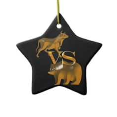 SOLD!  #BullMarket Vs #BearMarket Ornament by gravityx9 shipping to Allentown, PA