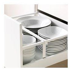 METOD / MAXIMERA Mobile 2 frontali/2 cassetti alti - bianco, Ringhult lucido bianco, 60x60 cm - IKEA