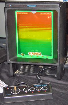 The Vetrex gaming system used vector images similar to the old Asteroids game...but color came from plastic overlays.