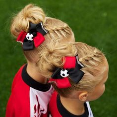 The bun and braid! Cute for sports, gymnastcs, horseback riding
