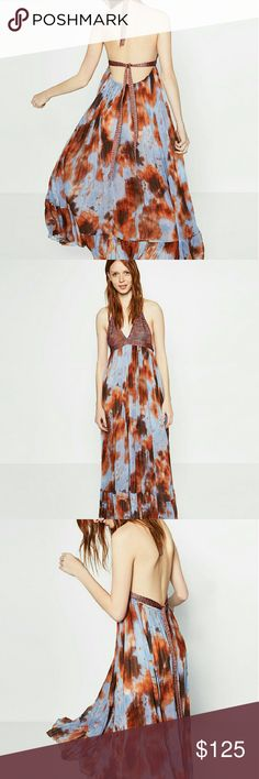 Zara maxi dress Beautiful. Sheer bottom. Tie kneck and back. Amazing for vacation, or just around town. Ordered 2 by accident. So I'm selling one! Sold out style. Size M only which is Zara (ONE SIZE FITS MOST) PRICE IS FIRM Zara Dresses Maxi