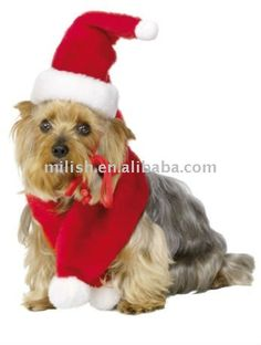 De navidad para perros mascotas disfraces/ropa para mascotas/vestido .