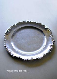 Vintage silver Tray - Sun Tray