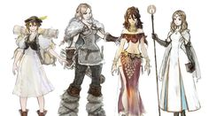 Octopath Traveler art gallery featuring characters and concept art from the game. #art #artwork #gaming #videogames #gamer #gameart #conceptart #illustration