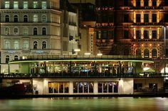 Hamburg - Alsterpavillon bei Nacht