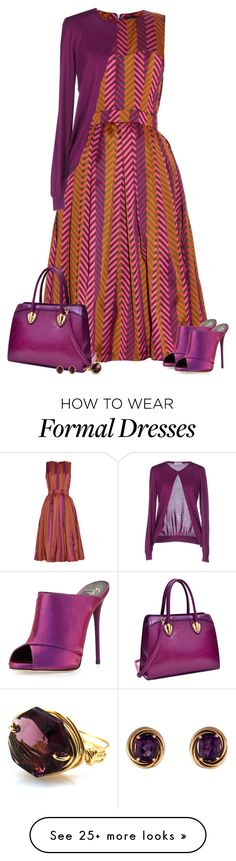 """Amethyst"" by savvy-maven on Polyvore featuring House of Holland, Giuseppe Zanotti, Dasein, Moschino, amethyst and Sain"