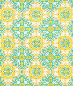 Shop Joel Dewberry Historic Tile Canary Fabric at onlinefabricstore.net for $9.35/ Yard. Best Price & Service.