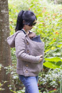 I love this versatile jacket that can be worn over a baby carrier, or not - and it's crocheted!