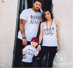 Boss Man T-Shirt homme | Chemise pour homme, T-shirt, T-shirt pour hommes, correspondance familles chemises chemises T-shirts Couple, famille, famille Boss