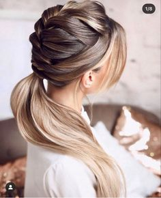 Braided Hairstyles, Wedding Hairstyles, Amazing Hairstyles, Hear Style, Without Makeup, Braided Updo, Hair Highlights, Hair Inspo, Ponytail