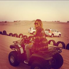 I will be going in 4X4's....Ridin Dirty..#Dubai for a Perfect Mothers Day!