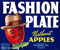 Buy 'Vintage Food Crate Label Fashion Plate Apple In Hat Wenatchee Washington Apples Fruit Vegetable Produce Art Antique Retro Artwork Old Sign' by jnniepce as a T-Shirt, Classic T-Shirt, Tri-blend T-Shirt, Lightweight Hoodie, Fitted Scoop. Retro Advertising, Vintage Advertisements, Retro Ads, Vintage Labels, Vintage Ads, Vintage Food, Vintage Postcards, Vintage Trends, Vintage Signs