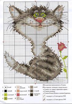 Вышивка крестом кошки: схемы домашних любимцев