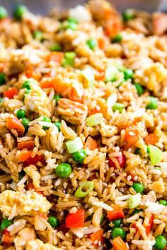 Christmas day fried rice why get takeout when you can make it easy chicken fried rice close up ccuart Choice Image