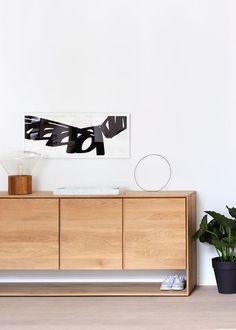 Ethnicraft Oak Nordic Sideboard with 3 doors   www.bocadolobo.com #bocadolobo #luxuryfurniture #exclusivedesign #interiodesign #designideas  #modernsideboard #sideboardideas #sideboard