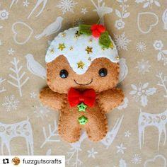 Lovely work by Fuzz Guts\' Crafts ~Kate ^-^  1 Month until #Christmas #instock #christmasdecorations #christmasornaments #etsyau #gingerbread #gingerbreadman #giingerbreadornament #xmas #xmasdecorations #xmasornament #ornaments #decorations #felt #feltcraft #feltcrafts #craft #crafts #fieltro #feltro #feltrolove #etsyfinds #etsyaustralia